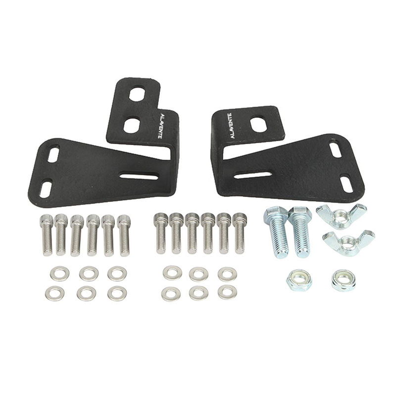 Alavente Hi-Lift Jack Mount Hood Bracket for JEEP Wrangler CJ 1944-1986 YJ 1987-1995 TJ 1997-2006 (Pair, Black)
